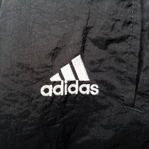 adidas Pants - Vintage Adidas Tear Away Black Nylon Track Pants M